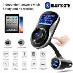 Bluetooth kihangosító FM modulátor sztereó autós MP3 lejátszó audio adapter adó adó  TF Fit iPhone XS 8 7 és Android