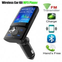 Bluetooth FM adó autós vezeték nélküli rádió adapterhez 2 USB töltő MP3 lejátszó