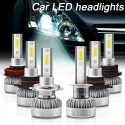 2 db / készlet 6000K fehér fényű autós LED fényszóró készlet H7
