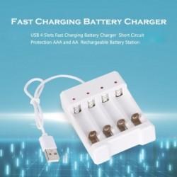 USB 4 bővítőhely gyors töltőkészüléktöltő rövidzárlatvédelem AAA és AA újratölthető akkumulátor állomás