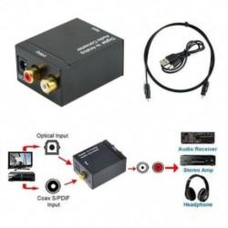 Optikai koaxiális Toslink digitális és analóg audio átalakító adapter RCA L / R 3,5 mm