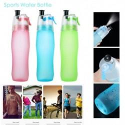 740ML szabadtéri sport hordozható vizes palack kreatív műanyag spraypalack futó fitnesz palack