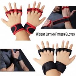 1 pár súlyemelő edzőkesztyű Fitness meztelen ujj csuklóvédő kerékpározás fél ujjú kesztyű kéz tenyérvédő