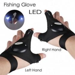 Új LEDes kültéri zseblámpa horgász kesztyű, fél ujjú kesztyű, világítással