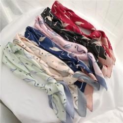 70 * 70 vörös koronás daru, utánozott selyemszövet, Foulard téri sál, laposkendő, szatén bandana