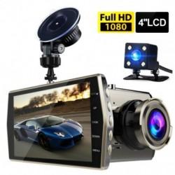 """Kettős lencsés autós DVR járműkamera Full HD 1080P 4 """"IPS elülső   hátsó éjszakai látású videó felvevő"""