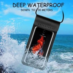 Vízálló mobiltelefon borító tartó kültéri úszás sodródó búvárkodó kötőfék vízálló táska
