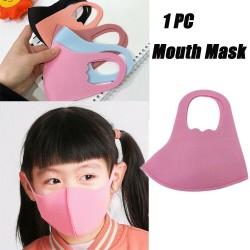 Fekete Pamut újrafelhasználható pormentesítő szivacs maszkok Gyerekeknek arcmaszk szájmaszk