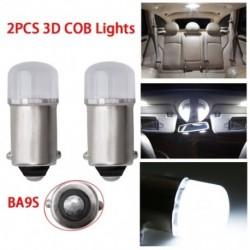 2 db új, szuper fényes 12 V-os autó LED fényű kerámia COB LED-izzó BA9S T4W autó rendszámtábla világító lámpa