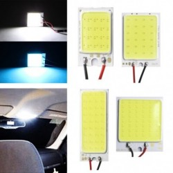 12 V 48SMD COB LED-es panel autóautó-belső belső olvasólámpa izzó fény kupola T10-es adapterrel