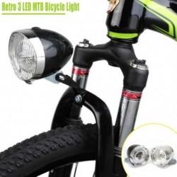 Retro stílusú kerékpár első fényszóró Vintage 3LED biztonsági figyelmeztetés éjszakai fény kerékpár dekorációs