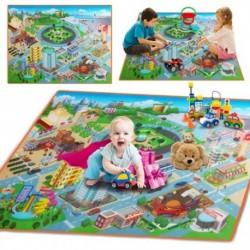 120x90 cm-es  baba kisgyermek játszó Crawl Mat puha, vízálló PE takarószőnyeget