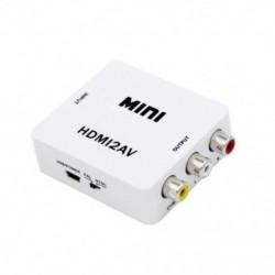 HDMI-AV konverter HDMI-RCA műanyag dobozos video konverter támogatás 1080P