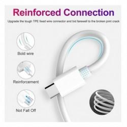 PD gyors töltő kábel USB C-hez és villámláshoz iPhone Xs X-hez 8-pólusú TypeC 3A-hoz Gyors töltő C-típusú villámhoz