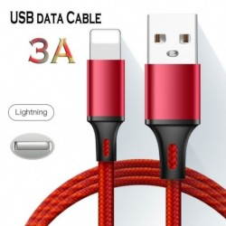 USB adatkábel iphone gyors töltéshez. Max 3A mikrotáblás adat nylon fonott töltő kábel