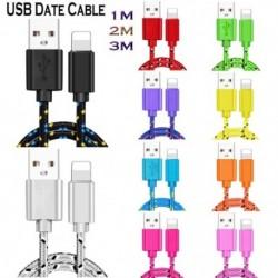 USB dátumkábel 1m 2m nylon fonott gyors töltő kábel USB töltő kábel iphone-hoz