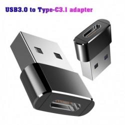 USB 3.0 A típusú  - USB 3.1 C típusú aljzat csatlakozó konverter adapter töltés adatátvitel
