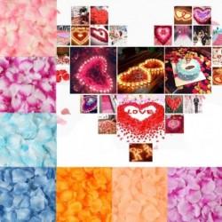 100db romantikus szimuláció rózsaszirom virág party dekorációra esküvő házassági szobában