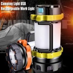 Többfunkciós USB töltő kempinglámpa LED sátor világítás zseblámpa vízálló Spotlight munkalámpa Keresőfény