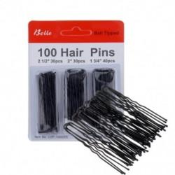 100db / készlet U alakú, göndör hullámos markolatok Bobby csapok Láthatatlan haj frizura Hajtű hajformázó eszköz