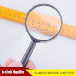 Műanyag kézi 5X nagyító nagyító 60 mm-es diák öreg kézi olvasó nagyító