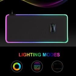 RGB játék nagy egérpad LED számítógépes háttérvilágítással