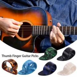1 db hüvelykujj gitár válogatások gitár plectrumok hüvely cellulóz közvetítő gitárválasztó akusztikus elektromos