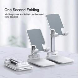 Telefonállvány Tablet Állószög Magasságban Állítható Telefon Teljesen Összehajtható Szilikon Csúszásgátló