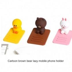 Kawaii Bear telefontartó Aranyos Cartoon Mobiltelefon-tartó StábTablet asztali tartó iPhone Huawei Xiaomi