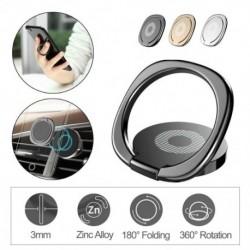 360 ° -os ujjgyűrűs autómágneses fémlemez telefontartó asztali konzol