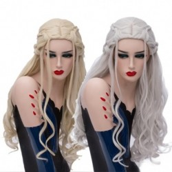 Thrones játék Hosszú hullámos sárkány az anya paróka nők szintetikus haj cosplay paróka halloween party jelmez
