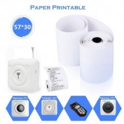 57 * 30 mm-es hőnyomtató papír, nyomtatható matrica Paperang és Peripage Mini nyomtatóhoz