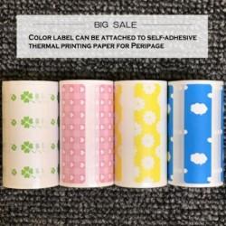 A Peripage nyomtatáshoz öntapadó termikus nyomtatópapír színes címke csatolható