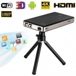 4K Smart DLP Mini kivetítő Android WiFi Bluetooth 1080P 8G házimozi HDMI