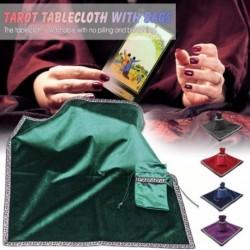 Tarot terítő kártyával Táskák Tábla társasjáték asztalterítő pelyhesítő szövet Tarot kiegészítők Altar Tarot