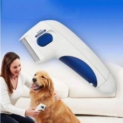 Kisállat bolha tetvek tisztító fésű elektromos kutya bolha tisztító kefe Bolhás elleni fésű Elektronikus tetős fésű