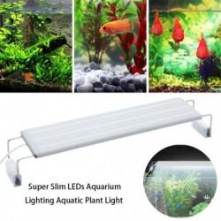 220v-os szuper vékony LED-ek Akvárium világítás Vízi növények könnyű meghosszabbítható klip a lámpa halak számára