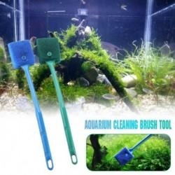 23cm / 40cm kétoldalas fejtisztító kefe műanyag szivacs Akvárium üveg algák tisztító haltartály kiegészítők