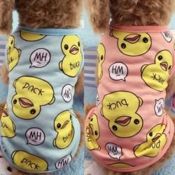 6 méretű rajzfilm nagy sárga kacsa ruházat tavaszi és nyári kutya macska pulóver kisállat ruhák