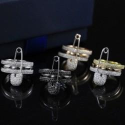 3 db / Set új divat kreatív dizájn tű cirkózus gyűrűkkel női ékszer ajándék