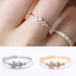 Új divat egyszerű, elegáns 9 gyémánt cirkónium gyűrűs női ékszer ajándék