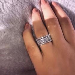 Új kreatív kerék cirkóni eljegyzési esküvői hercegnő gyűrűs női ékszer ajándék