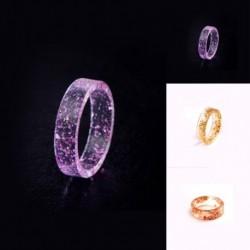 Gyanta gyűrű átlátszó epoxi divat kézzel készített arany fólia romantikus ajándékok belsejében