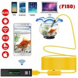 Vezeték nélküli kamera 2.0 MP 1200P HD Endoszkóp kamera Vízálló kemény kábel-ellenőrző 8 LED-es lámpával IOS