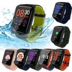 ÚJ Intelligens karkötő sport fitnesz nyomkövető pulzusszám vérnyomás oxigén alvásmonitor IP67 vízálló csuklópánt