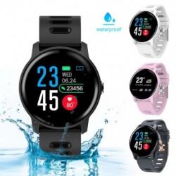 Smart Watch Fitness Tracker pulzusmérő lépésszámláló IP68 vízálló férfi nők Smartwatch Android IOS