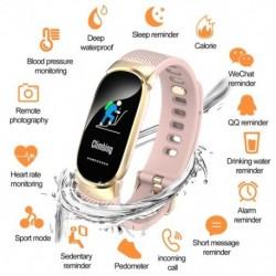 Sport vízálló intelligens karóra női intelligens karkötő zenekar Bluetooth pulzusmérő Fitness Tracker