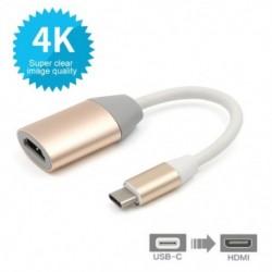 HDTV HDMI jelkábel USB-C 3.1 C-Type-HDMI adapter csatlakozókábel