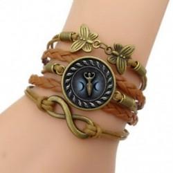 3 - Hármas hold istennő Wiccan karkötő bőr holdkő boszorkány nők (szín: barna)
