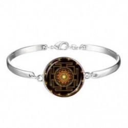 Buddhista Sri Yantra Tánc Shiva Nataraja Szent geometria üveg karkötők * 891